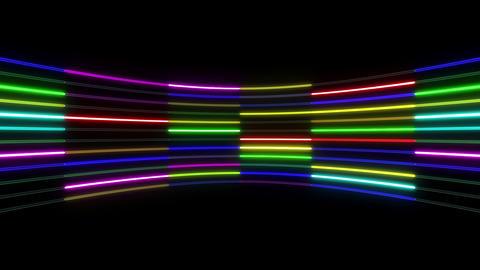 Neon tube R c B 1 HD Stock Video Footage