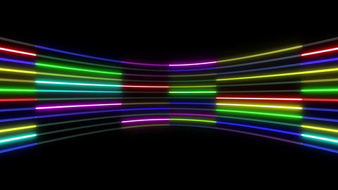 Neon tube R c D 1 HD Stock Video Footage