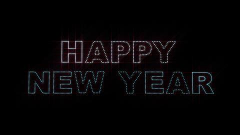 Happy New Year LEDS 01 Animation