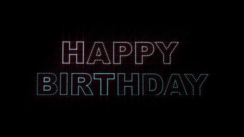Happy Birthday LEDS 01 Stock Video Footage