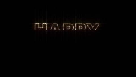 Happy Birthday LEDS 01 Stock Video Footage
