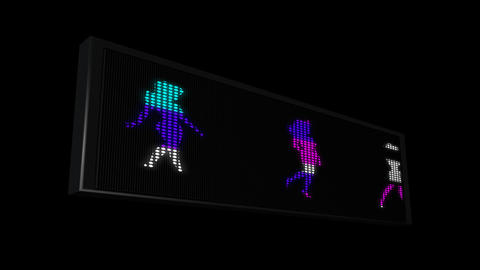 LEDS Girl walking 03 Stock Video Footage