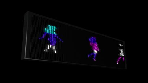 LEDS Girl walking 03 Animation