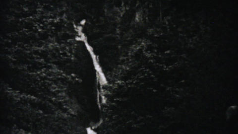 Beautiful Multnomah Falls In Oregon 1940 Vintage Stock Video Footage