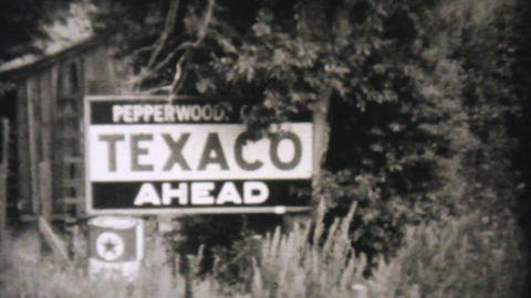 Car Getting Serviced At Texico Station 1940 Vintag Stock Video Footage