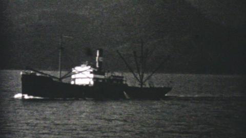 Fishing Boat Off The Coast Of Alaska 1940 Vintage Footage