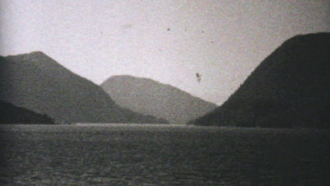 Fishing Boat Off The Coast Of Alaska 1940 Vintage Stock Video Footage