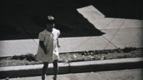 Girl Dances While Boy Plays Ukelele 1940 Vintage Stock Video Footage