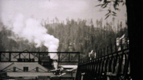 Leaving Eureka California Entering Oregon 1940 Stock Video Footage