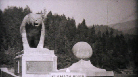 Leaving Eureka California Entering Oregon 1940 Stock Video Footage