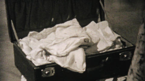 Packing Suitcase For Alaskan Cruise 1940 Vintage Stock Video Footage