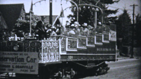 Touring Through Vancouver BC 1940 Vintage 8mm film Stock Video Footage