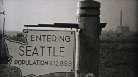 Visiting Seattle Washington On Driving Trip 1940 Footage