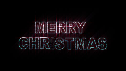 Merry Christmas LEDS 01 Animation