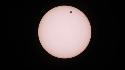 Passage of Venus across the disk of the Sun 06.06 Footage