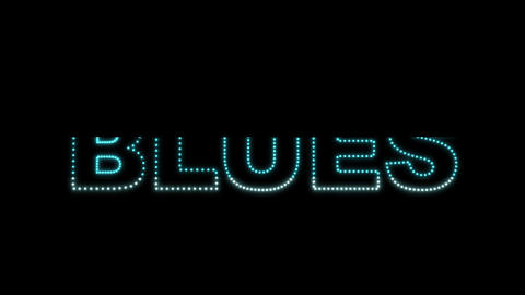 Blues LEDS 02 Stock Video Footage