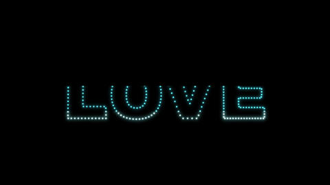 Love LEDS 02 Stock Video Footage