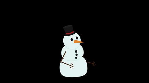 Snowman CG動画素材