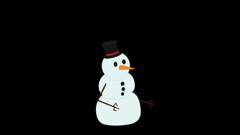 Snowman Stock Video Footage