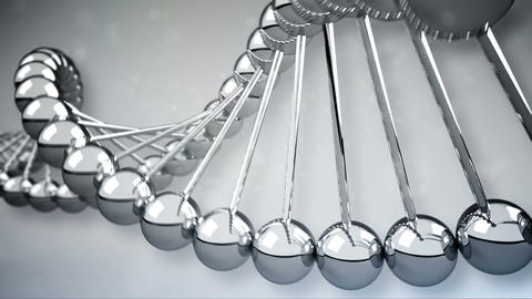 DNA Strands 3D model. Loopable Stock Video Footage