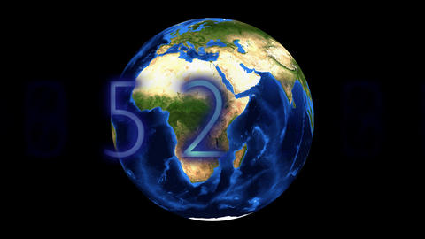 Earth and numbers Animation