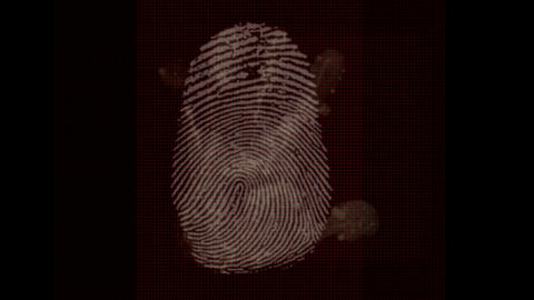 Fingerprint and hand animation Stock Video Footage