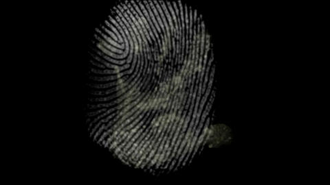 fingerprint and hand black background Animation