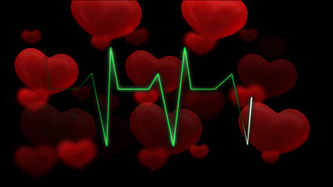 hearts pulsing audio HD Stock Video Footage