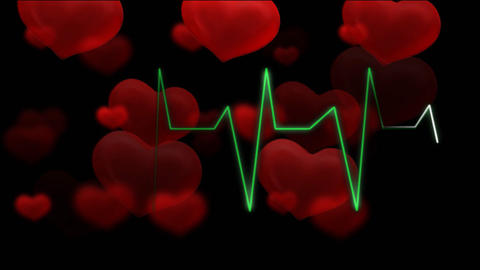 hearts pulsing audio HD Animation