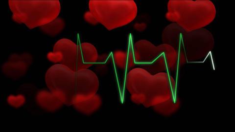 hearts pulsing audio HD Stock Video Footage