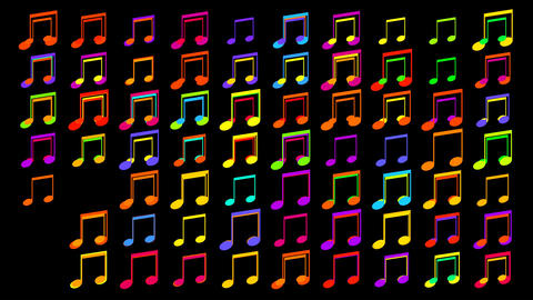 coloured musical notes Stock Video Footage