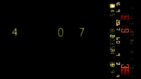 numbers random effect HD Stock Video Footage