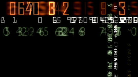 numbers random effect HD Stock Video Footage