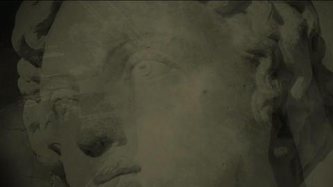 statue splatter2 Footage