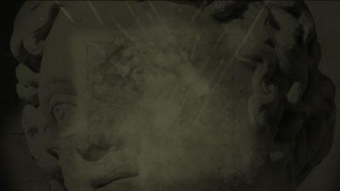 statue splatter2 Stock Video Footage