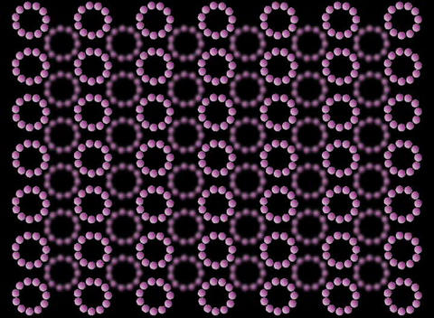 Purple Rotating Balls Stock Video Footage