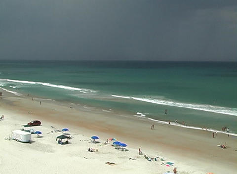 Storm Approaching A Beach stock footage