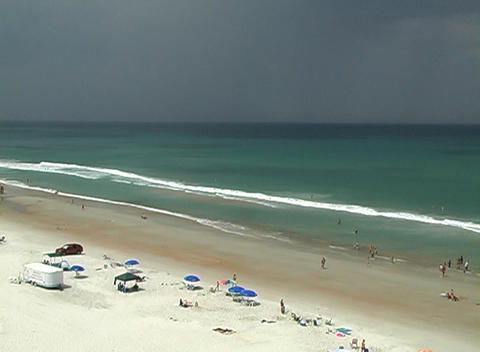 Storm Approaching a Beach Stock Video Footage