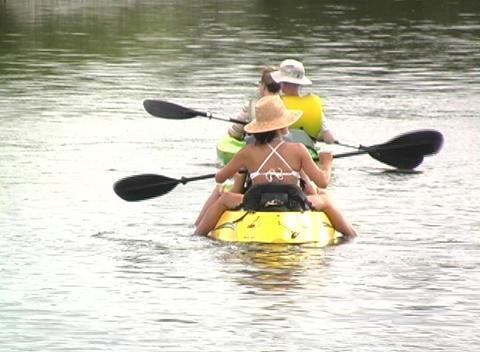 Kayak 2 Stock Video Footage