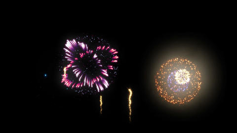 Fireworks HanabiTaikai B HD Stock Video Footage