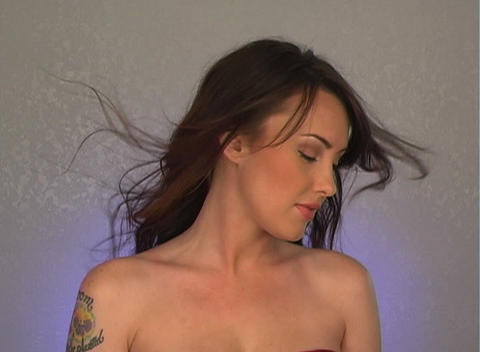 Close-up of a Beautiful, Sexy Brunette (2) Stock Video Footage