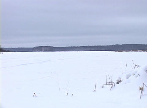 Snowy Landscape 2 Stock Video Footage