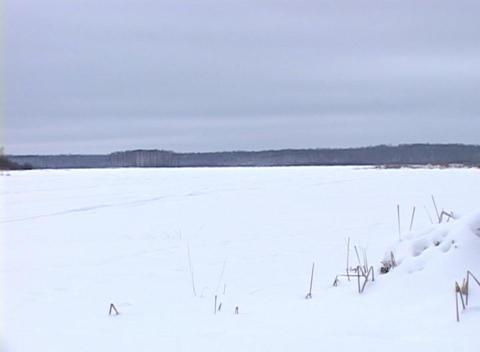 Snowy Landscape 2 Stock Video Footage