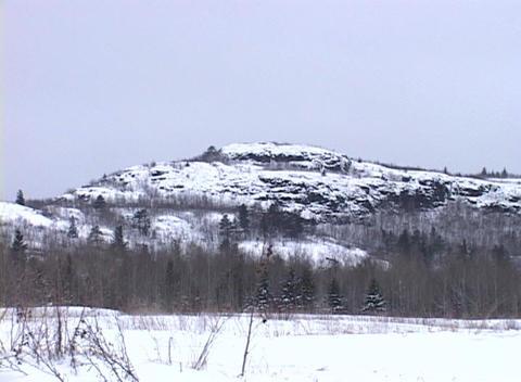 Snowy Landscape 3 Stock Video Footage
