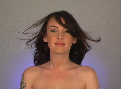 Close-up of a Beautiful, Sexy Brunette (3) Stock Video Footage