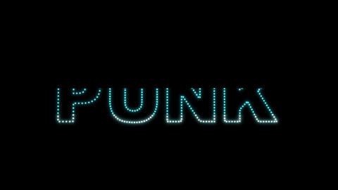 Punk LEDS 02 Stock Video Footage