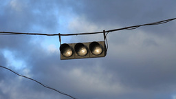 hanging traffic light Stock Video Footage