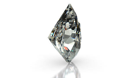 Pear Cut Diamond Stock Video Footage