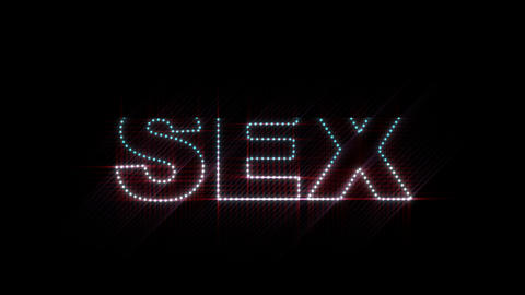 Sex LEDS 01 Stock Video Footage