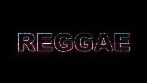 Reggae LEDS 01 Stock Video Footage